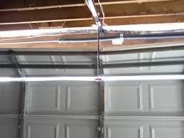 bent garage door