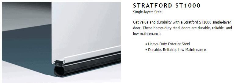 "alt="" Amarr Stratford 1000 door construction components"""
