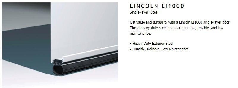 """alt="""" Amarr Lincoln Ll1000 door construction"""""""