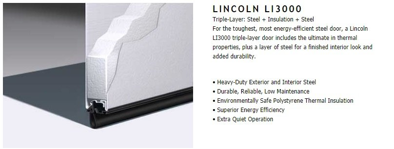 "alt=""amarr Lincoln Ll 3000 garage door"""