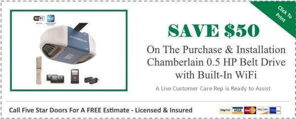 Chamberlain 0.5 HP Belt Drive Built-In WiFi