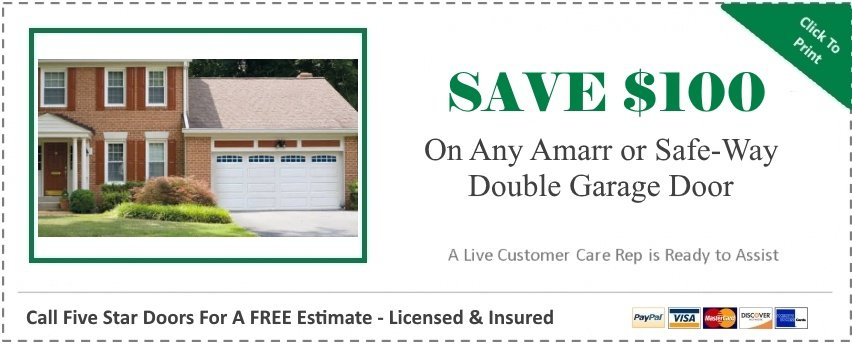 "alt="" coupon saving $100 off the purchase of any double door"""