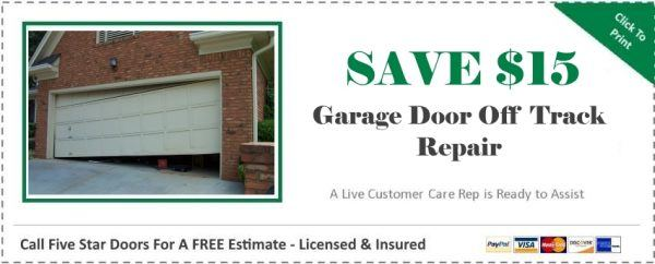 Garage Door Off Track Coupon
