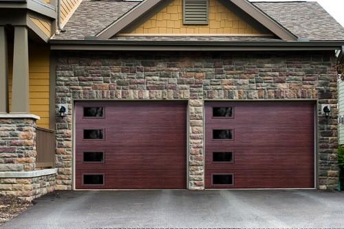 """alt=""""safe way ambient series double garage door"""""""