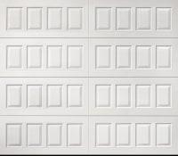 "alt="" Amarr raised panel garage door in white"""