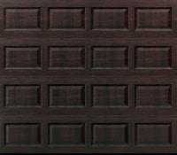 """alt="""" Amarr short panel garage door in mahogany"""""""