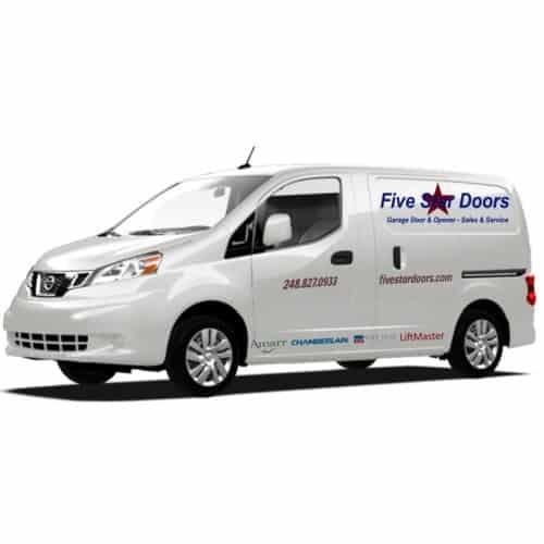 """alt=""""garage door sprigs service van"""""""